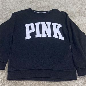 Women's PINK crewneck grey